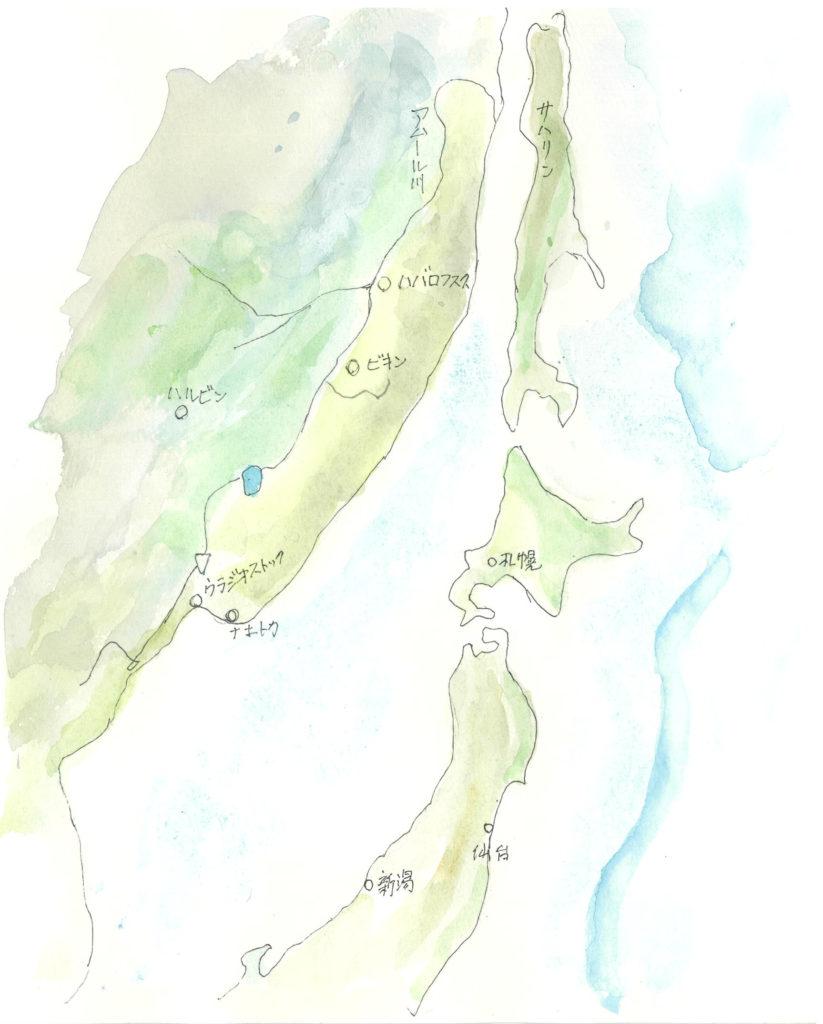極東の地図